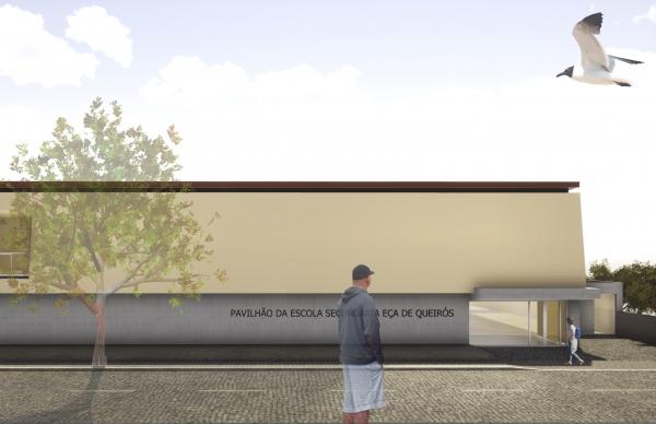Início dos trabalhos do Pavilhão Desportivo da Eça de Queirós