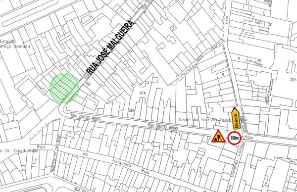 Trânsito cortado na Rua José Malgueira na quinta-feira