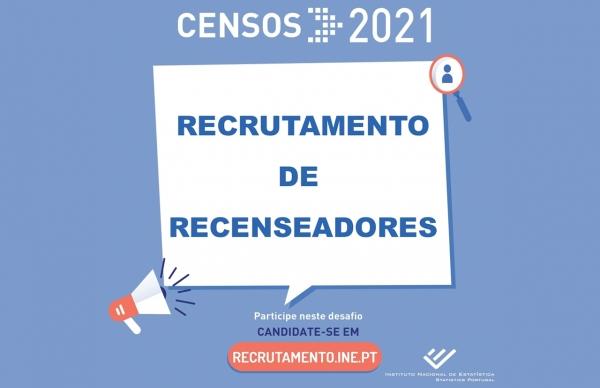 CENSOS 2021: Recrutamento de Recenseadores
