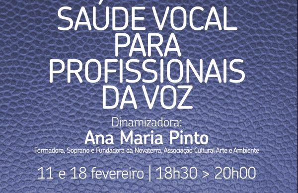 """Formações para professores: """"Saúde vocal para profissionais da voz"""""""