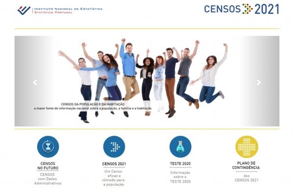 Censos 2021 em formato online ou por telefone