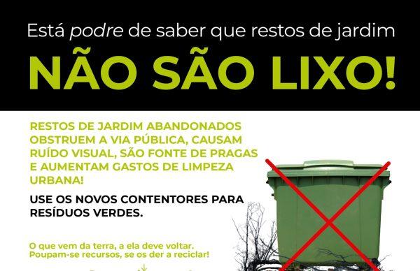 Os restos de jardim não são lixo! Município aposta na recolha seletiva de resíduos verdes em todo o concelho