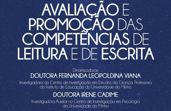 """""""Avaliação e promoção das competências de leitura e de escrita"""" - Sessão de Capacitação para Pessoal Docente"""