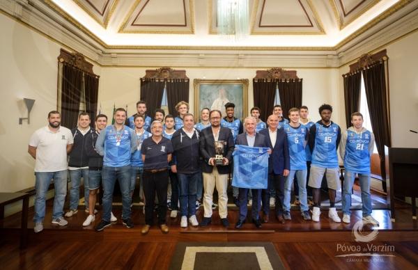 Presidente da Câmara garante total apoio a equipa sénior de basquetebol do CDP