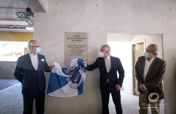 Presidente da Câmara inaugura Parque de Estacionamento da Matriz no Dia da Cidade