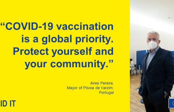Presidente da Câmara participa em campanha de vacinação europeia