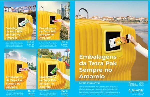 """Vamos reciclar as embalagens usadas: """"Sempre no Amarelo"""""""