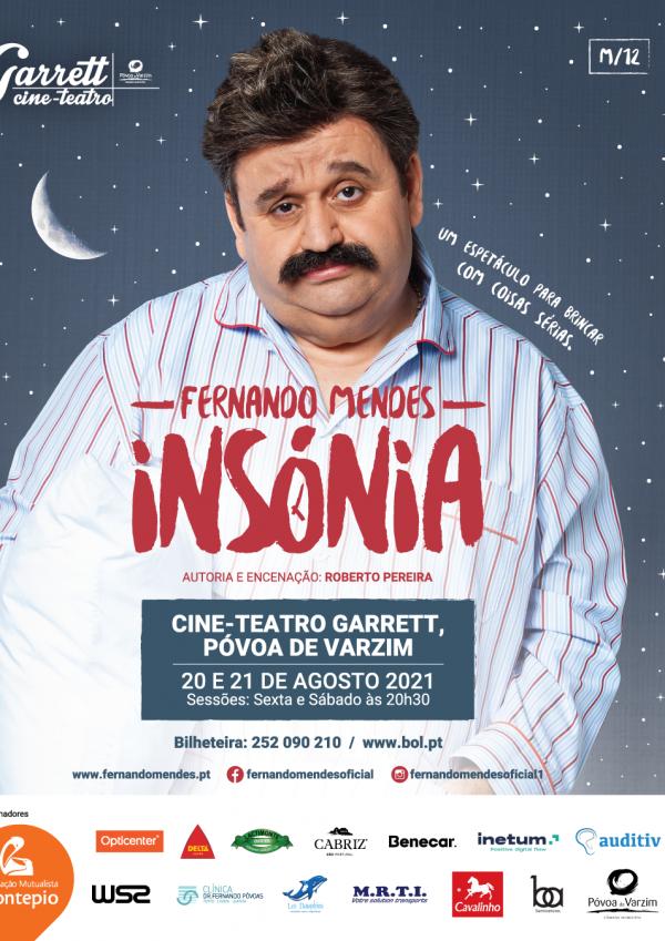"""Fernando Mendes dá vida à peça """"Insónia"""""""