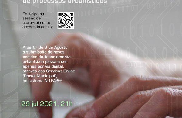 Digitalização de serviços de licenciamento de obras: Participe na Sessão de Esclarecimento