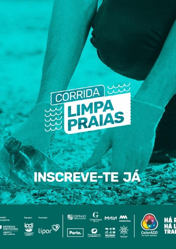 Corrida limpa praias